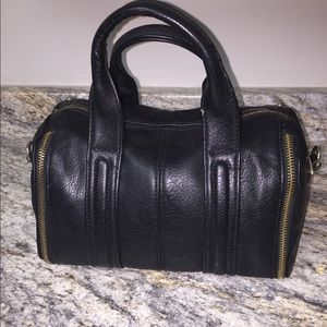 Black Handbag with gold zippers!!!